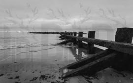 Molo Aberdeen in bianco e nero